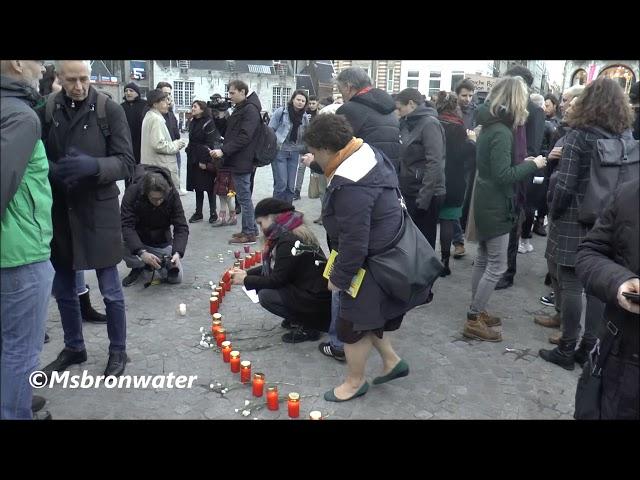 wake slachtoffers Nieuw-Zeeland @ dam square Amsterdam the netherlands