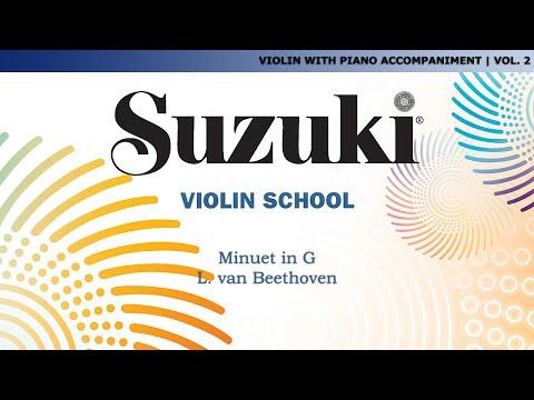 Suzuki Violin 2 - Minuet in G. L. van Beethoven [Score Video]