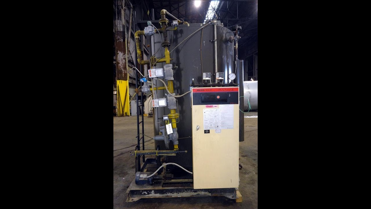 Used- Miura Natural Gas/#2 Oil Fired Steam Boiler - stock # 45767002 ...