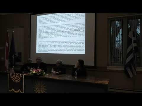 Part I - Ν. Λυγερός: Η αιωνόβια γενοκτονία των Ελλήνων του Πόντου. Τορόντο, 18/04/2019