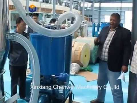 Electric vacuum conveyor for detergebt powder conveying