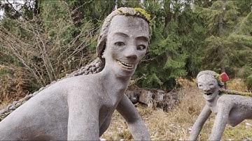 Most terrifying garden on earth! Veijo Rönkkönen Sculpture Garden - Parikkala, Finland | IntoTheWild