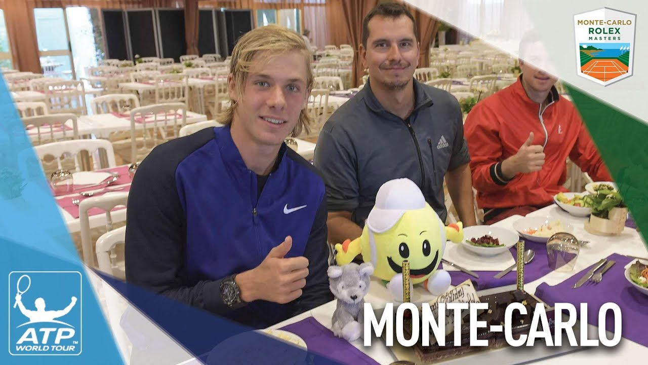 Shapovalov Celebrates 19th Birthday In Monte-Carlo