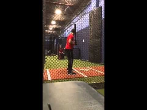Harry Fink  Hitting in Cage  Winter 2014
