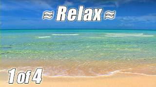 RELAXING VIDEO #1 Bahamas Beach Scene Ocean Waves Sounds Sea View Wave Sound relax