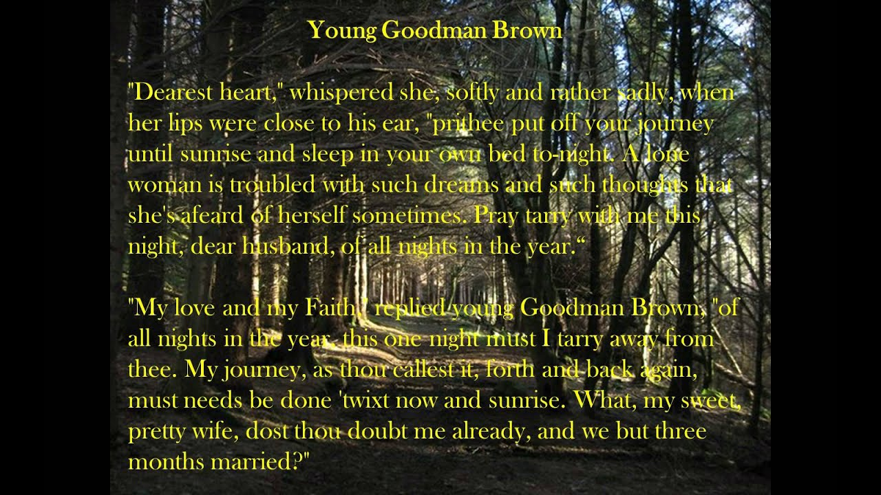 Free Young Goodman Brown Symbolism Essays and Papers zoom  zoom  zoom