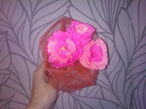 Букет из конфет своими руками Розы из бумаги Rose from sweets смотреть в хорошем качестве