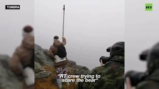 rt crew narrowly avoids polar bear attack in the russian tundra
