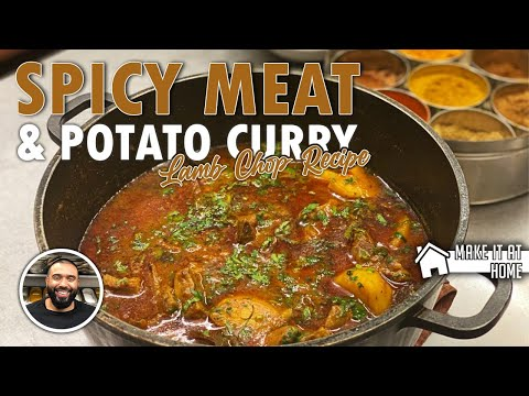 ***SPICY RED HOT*** MEAT & POTATO RECIPE   HOMESTYLE LAMB CHOP CURRY