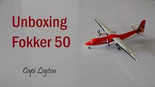 Unboxing Fokker 50 avianca