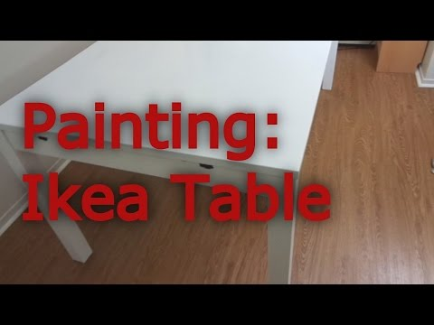 painting-an-ikea-dining-table