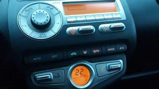 Как заменить лампочки подсветки климат контроля и магнитолы в Хонде Джаз Honda Jazz