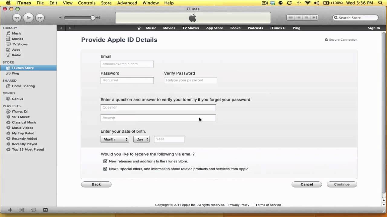 how to get an itunes account