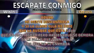 Escapate conmigo karaoke wisin ft ozuna
