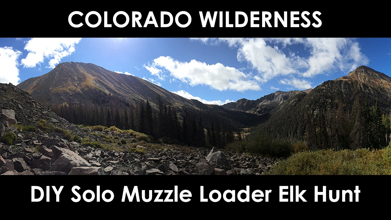 Diy colorado muzzle loader elk hunt youtube for Colorado out of state fishing license
