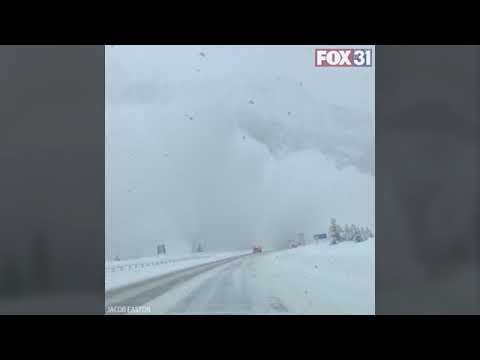 Aaron - Driver Records MASSIVE Avalanche Next To I-70 In Colorado