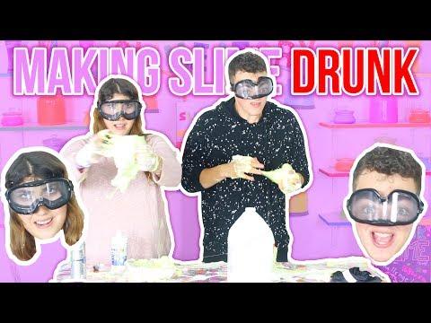 MAKING SLIME DRUNK CHALLENGE | DRUNK AND SLIME | Slimeatory #70