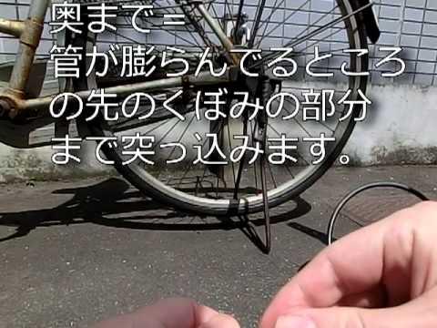 自転車 空気入れても抜ける! 虫 ...