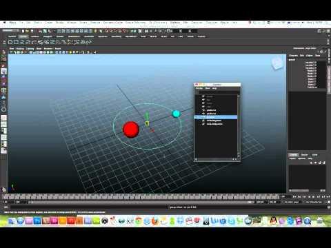 3D Maya Motion Path: Animate moon orbiting earth around sun orbit