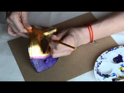 How to paint a Venice carnival mask
