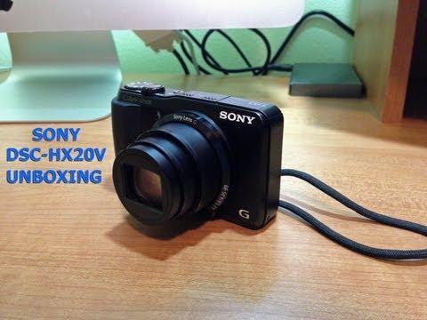 Sony DSC-HX20V Digital Camera - Unboxing