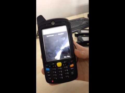 Motorola MC65 Hard Reset video - with micro sd card