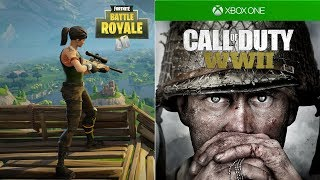 Fortnite and COD WWII Giveaway - Fortnite Battle Royale Funny Moments Montage #1