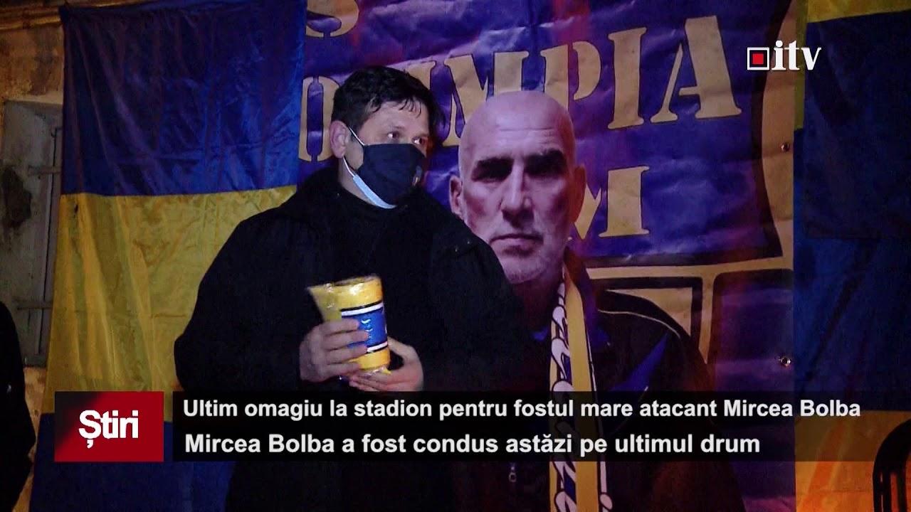 Ultim omagiu pentru fostul mare atacant Mircea Bolba