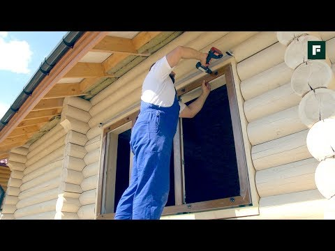 Как установить пластиковые окна в деревянном доме своими руками видео