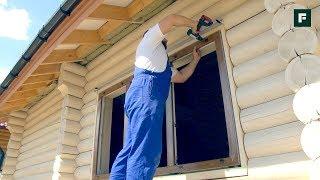 Пластиковые окна в деревянном доме: особенности монтажа в обсаду
