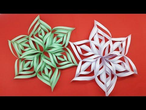Christmas Snowflake Tutorial | How To Make Paper Snowflake Easy Making Video