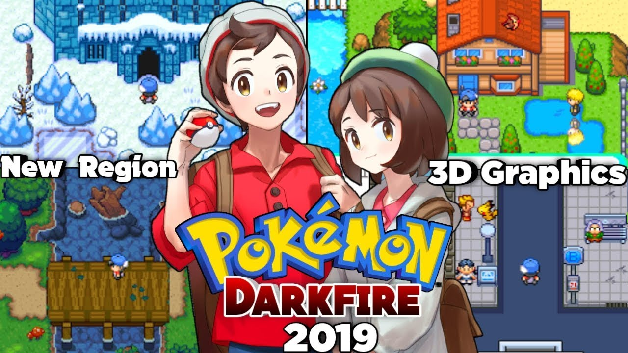 Pokemon DarkFire - A New Gba Rom Hack With 3D Effects,New Region,Advanced  Story,New Moves (2019)