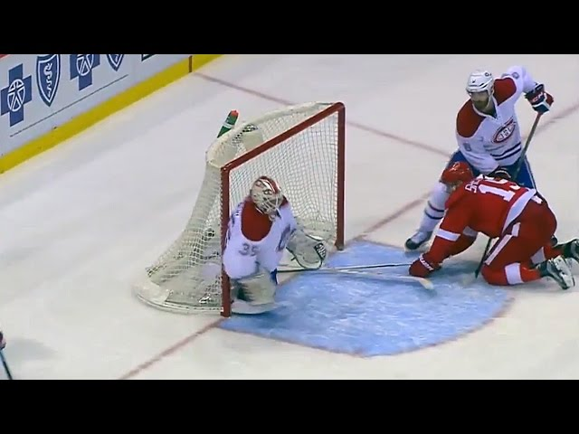 Tokarski shows off his athleticism on a desperation save