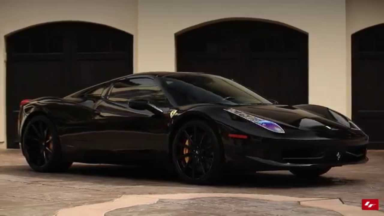 Ferrari 458 Spider On Custom Black Lexani Forged Wheels