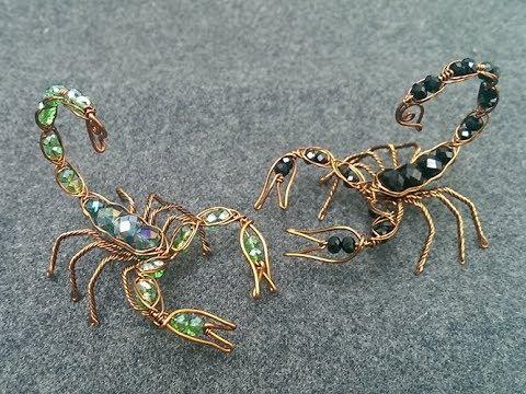 Wire scorpion - DIY wire jewelry - Halloween jewelry idea 270 - YouTube