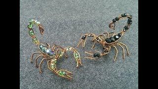 Wire scorpion - DIY wire jewelry - Halloween jewelry idea 270