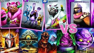 TMNT Legends - ALL new Easter characters VS ALL Bosses! Gameplay episode 323