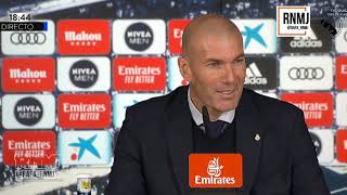 Rueda de prensa de ZIDANE post REAL MADRID 2-1 SEVILLA (18/01/2020)