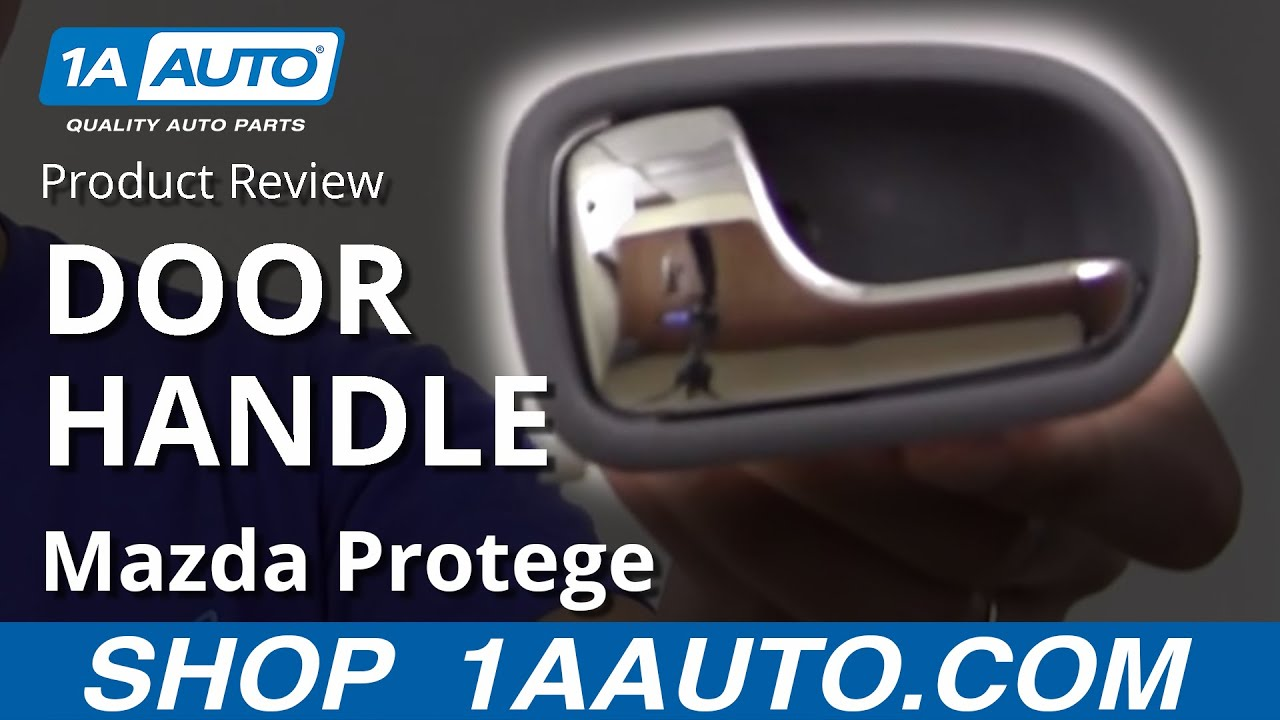 1adhi00292 Mazda Protege Inside Door Handle Chrome And Gray Driver