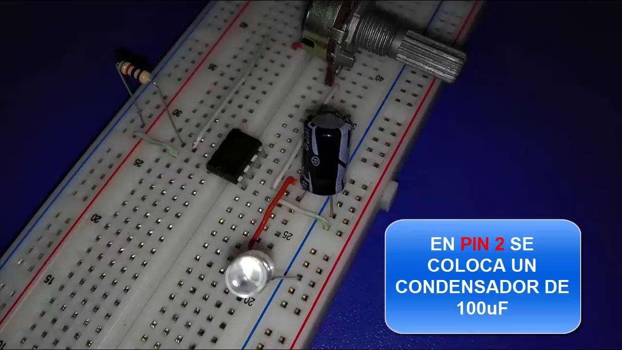 Circuito Oscilador 555 : Oscilador con circuito integrado youtube