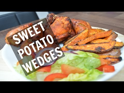 How to make Sweet Potato Wedges | Indian Cooking Recipes | Cook with Anisa