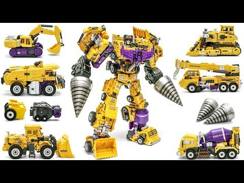 Transformers JINBAO G2 Yellow Devastator + Upgrade kit Combine Construction Vehicles Robot Toys