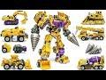 Transformers JINBAO G2 Yellow Devastator + Upgrade kit Combine Construction Vehicles Robot Toys