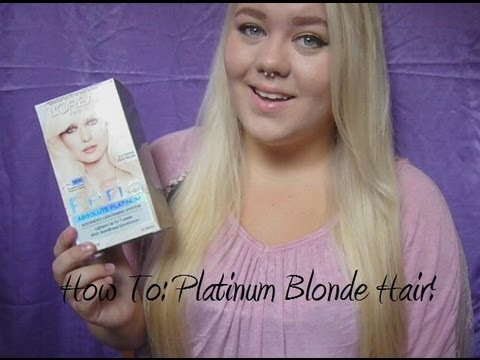 How To Platinum Blonde Hair Youtube
