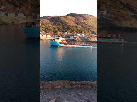Maersk Supply Ship Leaving St. John's
