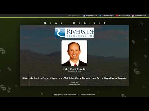 Riverside Cecilia Project Update w/CEO Jean-Mark Staude from