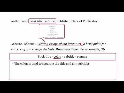 Harvard WesternSydU - Referencing A BOOK