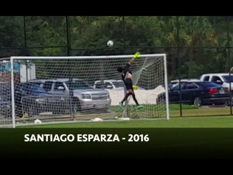 Santiago Esparza - Goalkeeper - College Soccer Recruitment Video - Class of 2018