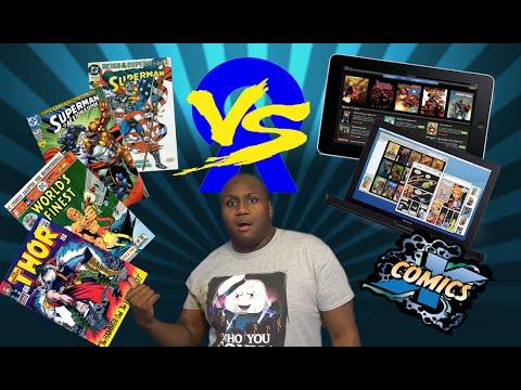Digital Comics VS Paper Comics-Comic Book Aficionados