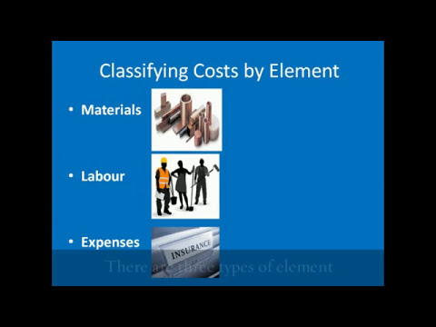Classifying Costs by Element